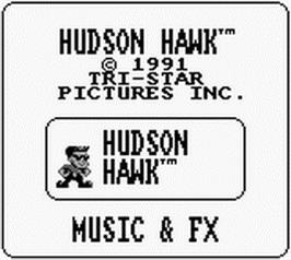Title screen of Hudson Hawk on the Nintendo Game Boy.