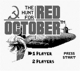 Title screen of Hunt for Red October, The on the Nintendo Game Boy.