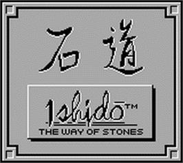 Title screen of Ishido: The Way of Stones on the Nintendo Game Boy.