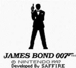 Title screen of James Bond 007 on the Nintendo Game Boy.