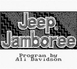 Title screen of Jeep Jamboree: Off Road Adventure on the Nintendo Game Boy.