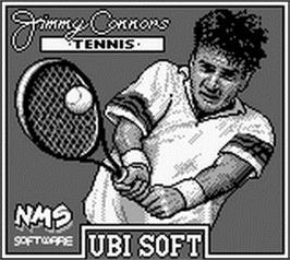 Title screen of Jimmy Connors Tennis on the Nintendo Game Boy.