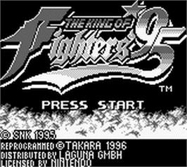 Title screen of King of Fighters '95, The on the Nintendo Game Boy.