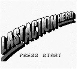 Title screen of Last Action Hero on the Nintendo Game Boy.