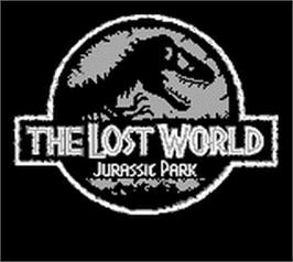 Title screen of Lost World: Jurassic Park on the Nintendo Game Boy.