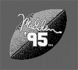 Title screen of Madden NFL '95 on the Nintendo Game Boy.