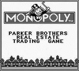 Title screen of Monopoly on the Nintendo Game Boy.