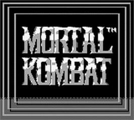 Title screen of Mortal Kombat on the Nintendo Game Boy.