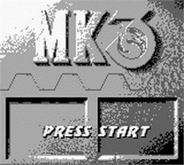 Title screen of Mortal Kombat 3 on the Nintendo Game Boy.