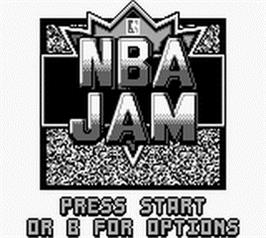 Title screen of NBA Jam on the Nintendo Game Boy.