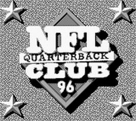 Title screen of NFL Quarterback Club '96 on the Nintendo Game Boy.