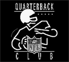 Title screen of NFL Quarterback Club on the Nintendo Game Boy.