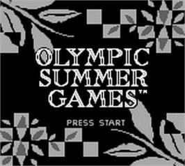 Title screen of Olympic Summer Games on the Nintendo Game Boy.