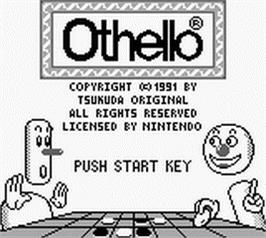 Title screen of Othello on the Nintendo Game Boy.
