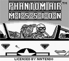 Title screen of Phantom Air Mission on the Nintendo Game Boy.
