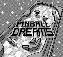 Title screen of Pinball Dreams on the Nintendo Game Boy.