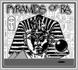 Title screen of Pyramids of Ra on the Nintendo Game Boy.