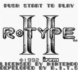 Title screen of R-Type II on the Nintendo Game Boy.