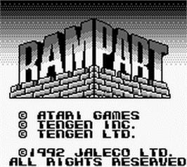 Title screen of Rampart on the Nintendo Game Boy.