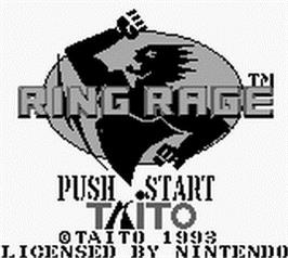 Title screen of Ring Rage on the Nintendo Game Boy.