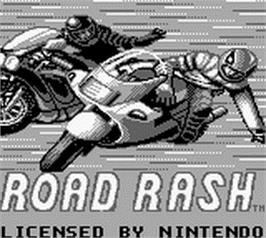 Title screen of Road Rash on the Nintendo Game Boy.