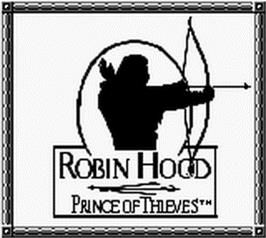Title screen of Robin Hood: Prince of Thieves on the Nintendo Game Boy.