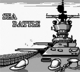 Title screen of Sea Battle on the Nintendo Game Boy.