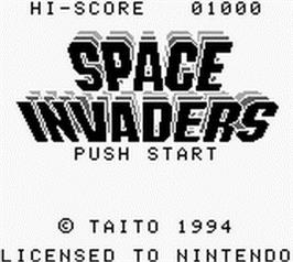 Title screen of Space Invaders on the Nintendo Game Boy.