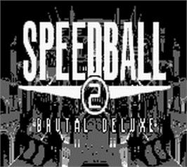 Title screen of Speedball 2: Brutal Deluxe on the Nintendo Game Boy.