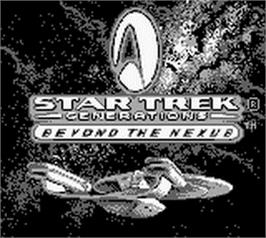 Title screen of Star Trek Generations - Beyond the Nexus on the Nintendo Game Boy.