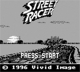 Title screen of Street Racer on the Nintendo Game Boy.