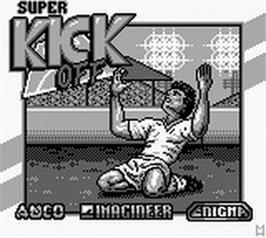 Title screen of Super Kick Off on the Nintendo Game Boy.