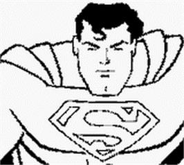 Title screen of Superman on the Nintendo Game Boy.