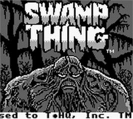 Title screen of Swamp Thing on the Nintendo Game Boy.