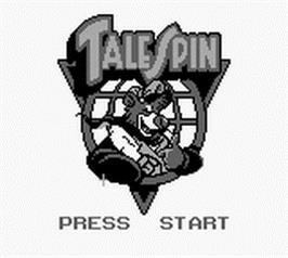 Title screen of TaleSpin on the Nintendo Game Boy.