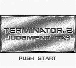 Title screen of Terminator 2 - Judgment Day on the Nintendo Game Boy.