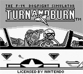Title screen of Turn & Burn on the Nintendo Game Boy.