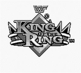 Title screen of WWF King of the Ring on the Nintendo Game Boy.