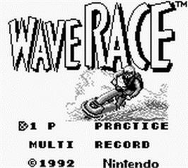 Title screen of Wave Race on the Nintendo Game Boy.