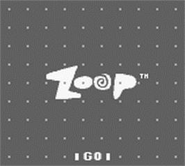 Title screen of Zoop on the Nintendo Game Boy.