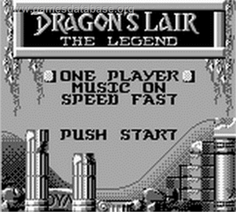 dragons lair the legend