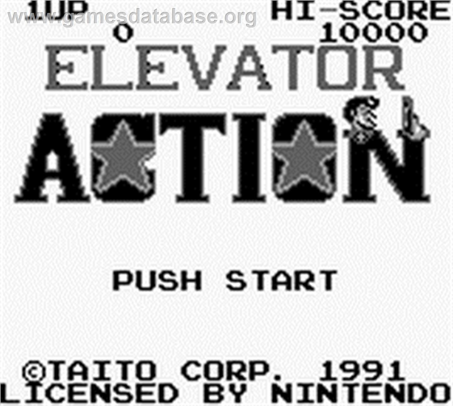 Elevator Action - Nintendo Game Boy - Artwork - Title Screen