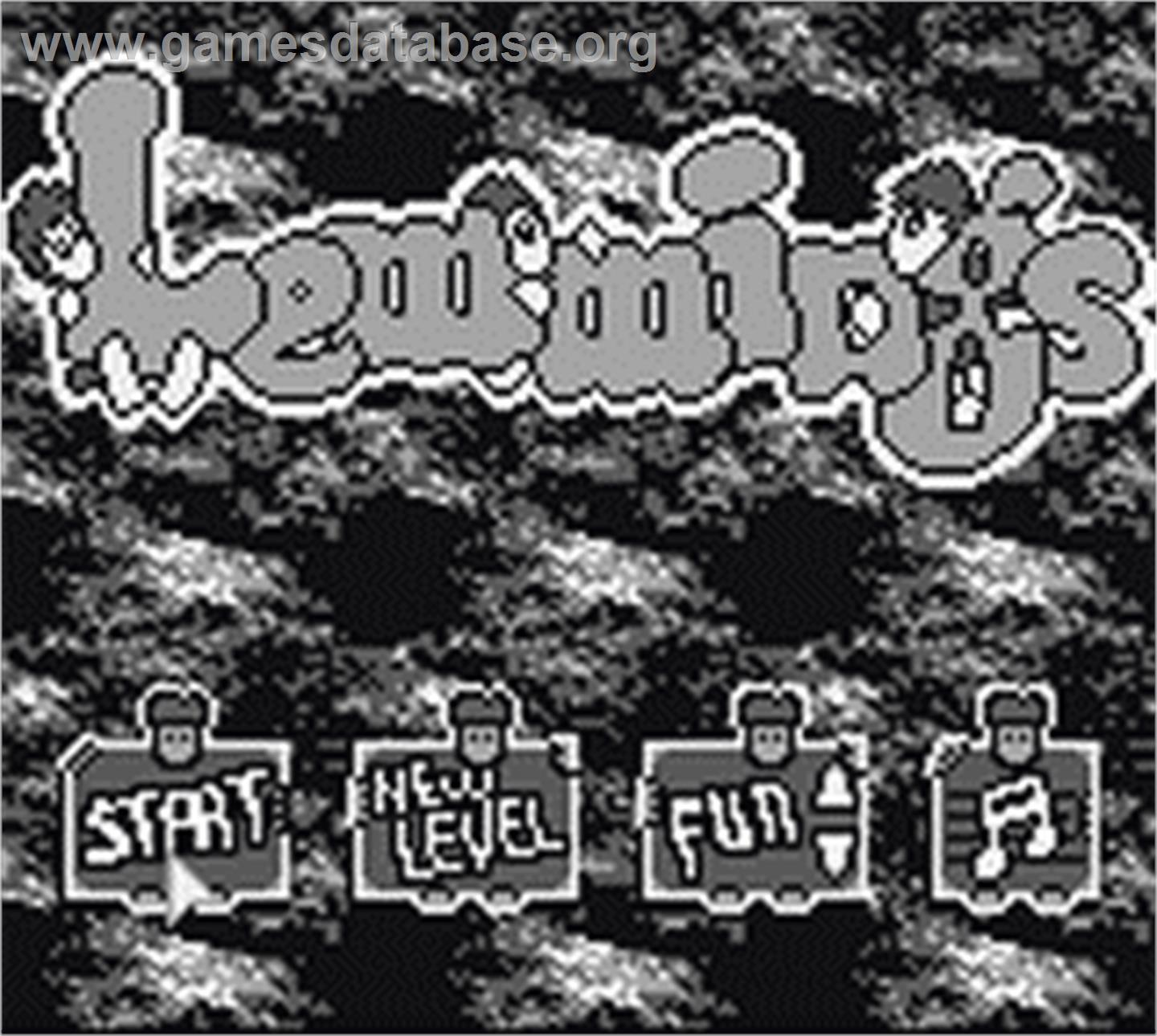 Lemmings - Nintendo Game Boy - Artwork - Title Screen