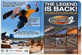 Advert for Tony Hawk's Pro Skater 2 on the Nintendo Game Boy Advance.