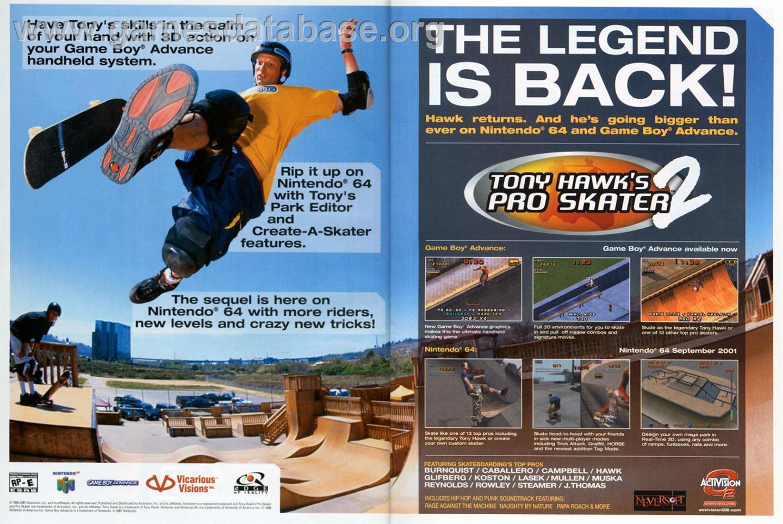 Tony Hawk's Pro Skater 3 (Nintendo Game Boy Advance, 2002 ...
