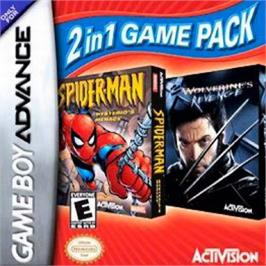 Box cover for 2 in 1: Spider-Man: Mysterio's Menace & X2: Wolverine's Revenge on the Nintendo Game Boy Advance.