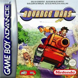 Box cover for Advance Wars on the Nintendo Game Boy Advance.