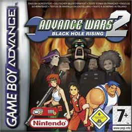 Box cover for Advance Wars 2: Black Hole Rising on the Nintendo Game Boy Advance.
