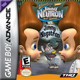 Box cover for Adventures of Jimmy Neutron: Boy Genius - Jimmy Neutron Vs. Jimmy Negatron on the Nintendo Game Boy Advance.