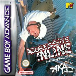 Box cover for Aggressive Inline on the Nintendo Game Boy Advance.